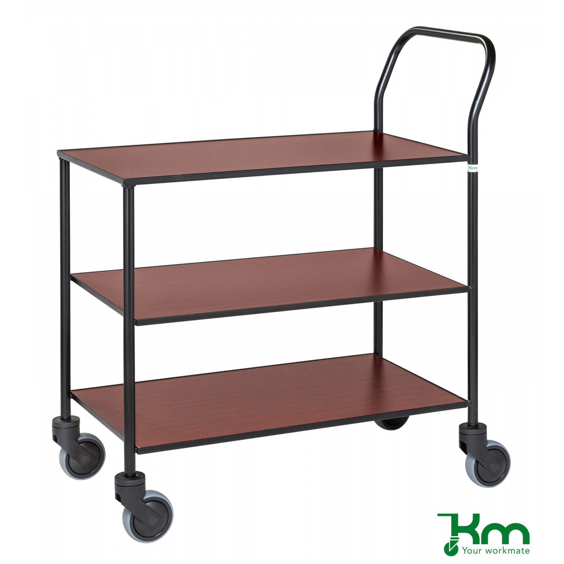 Design tafelwagen met mahoniestructuur toplaag, KM 873-MA