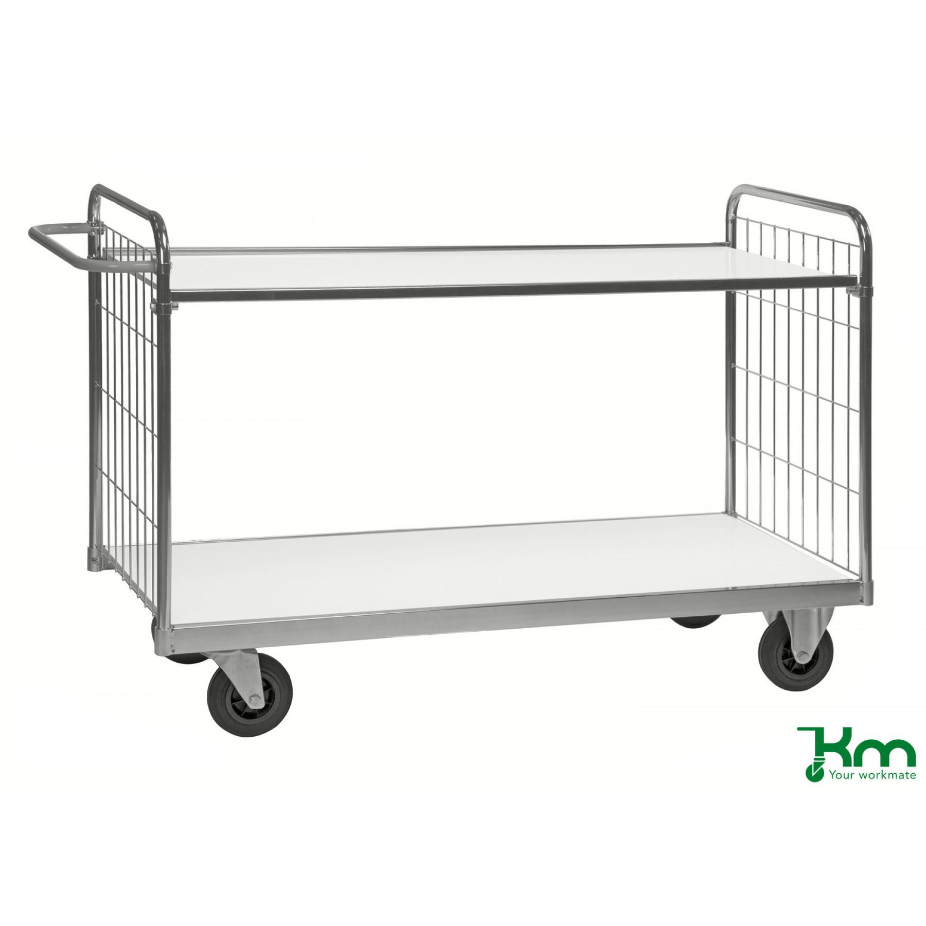 Tafelwagen verzinkt met 2 legborden, KM 9000-2XL