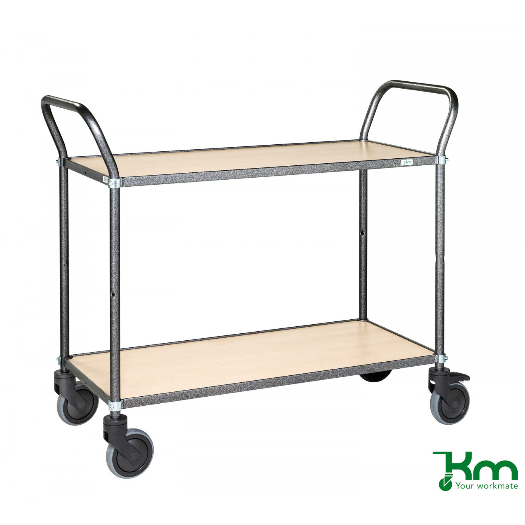 Design tafelwagen met berkenstructuur toplaag, KM 9112-BJ
