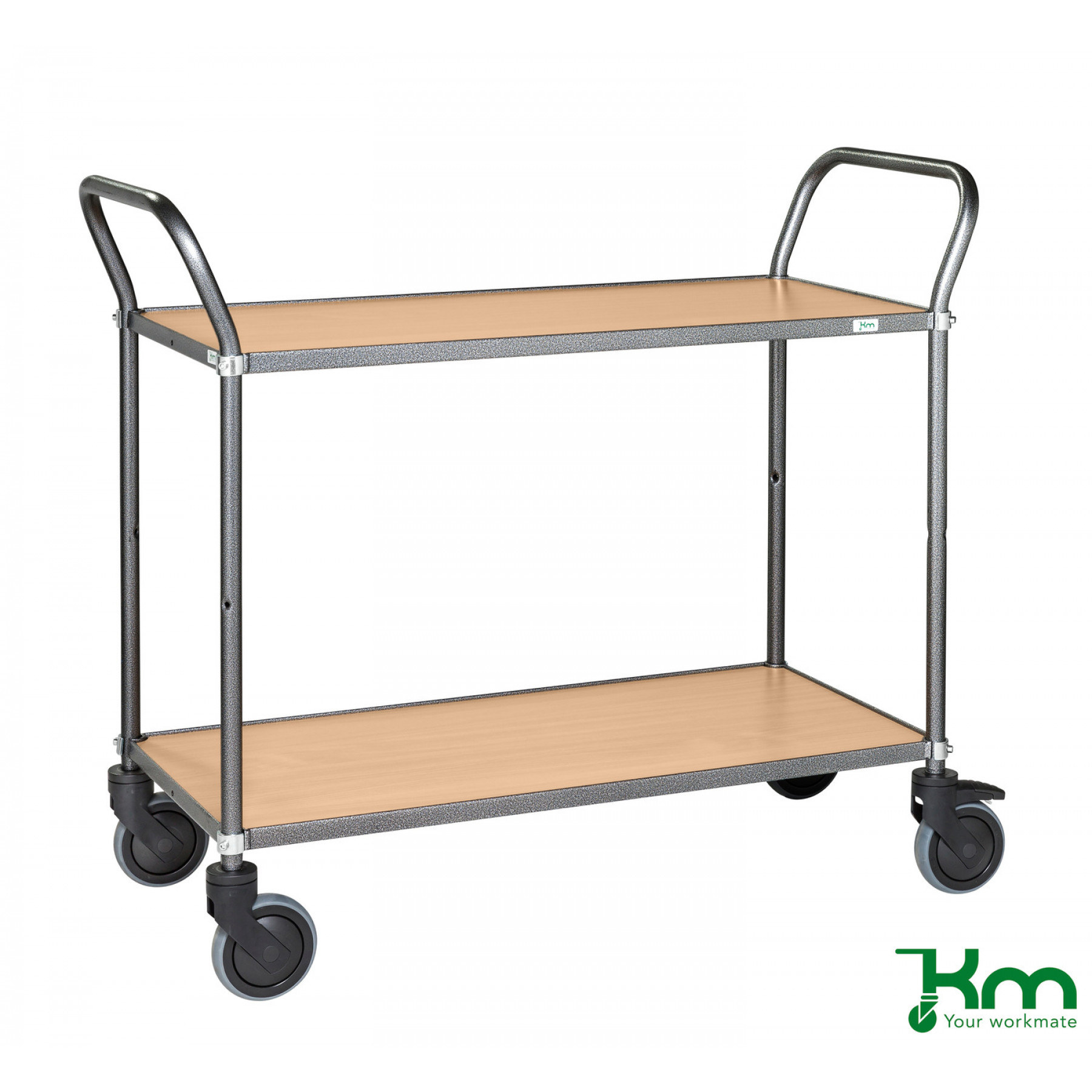 Design tafelwagen met beukenstructuur toplaag, KM 9112-BO