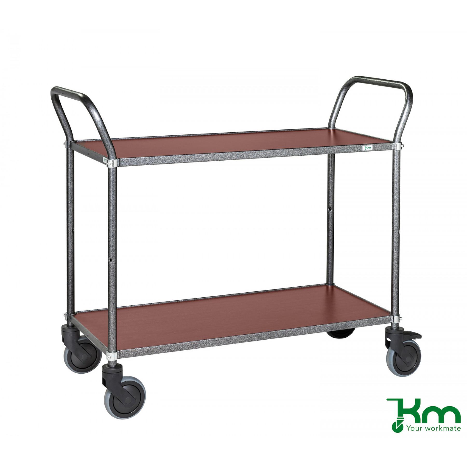 Design tafelwagen met mahoniestructuur toplaag, KM 9112-MA