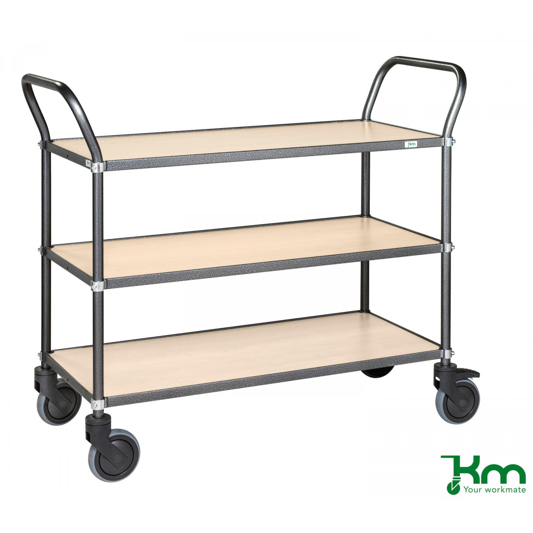 Design tafelwagen met berkenstructuur toplaag, KM 9113-BJ