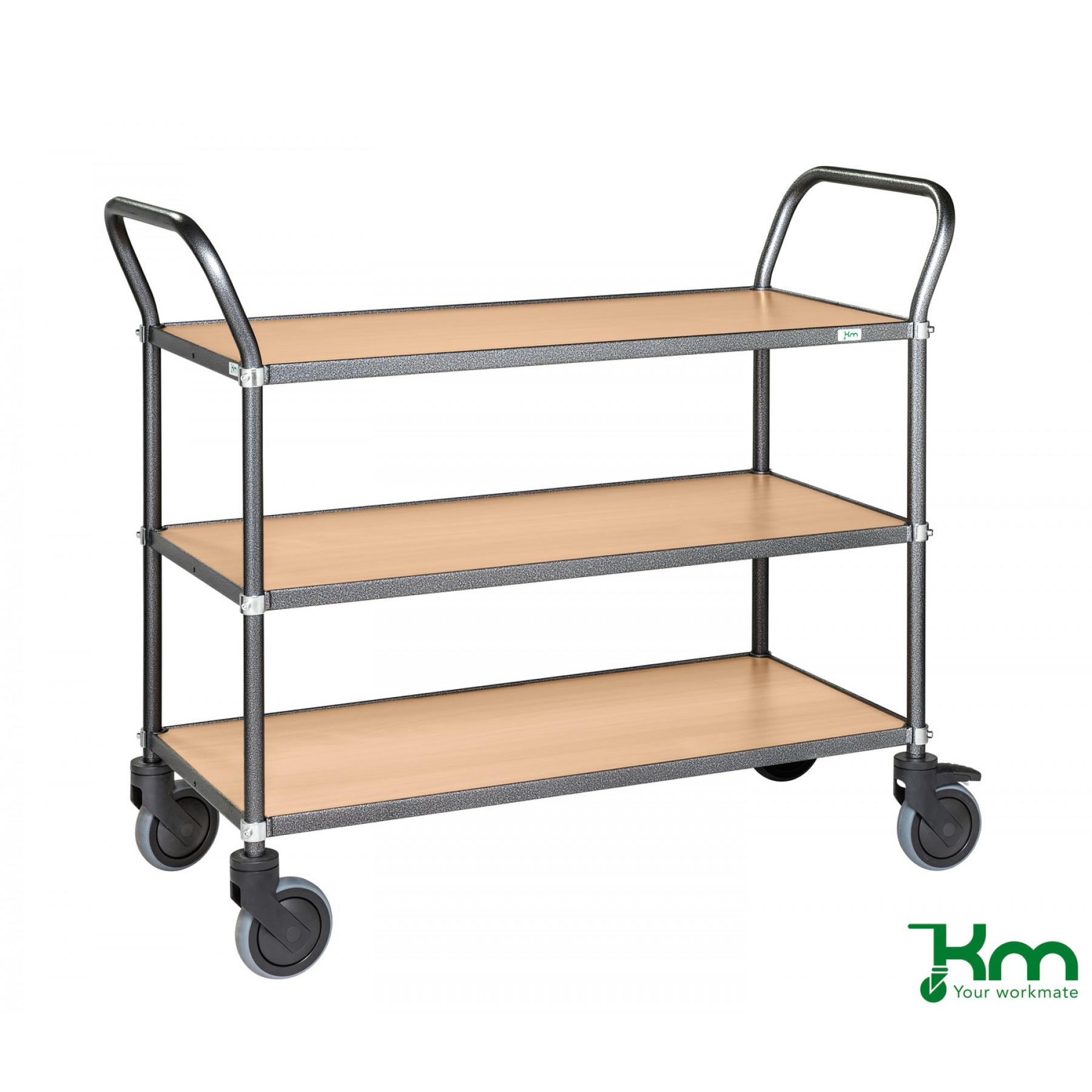 Design tafelwagen met beukenstructuur toplaag, KM 9113-BO