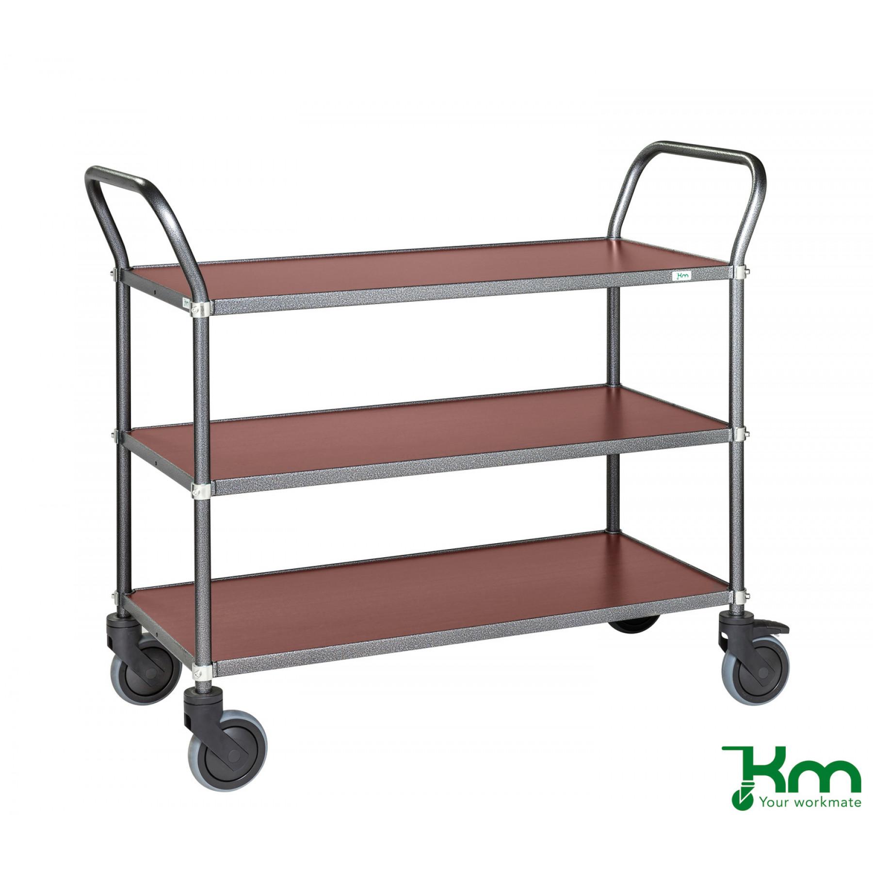 Design tafelwagen met mahoniestructuur toplaag, KM 9113-MA