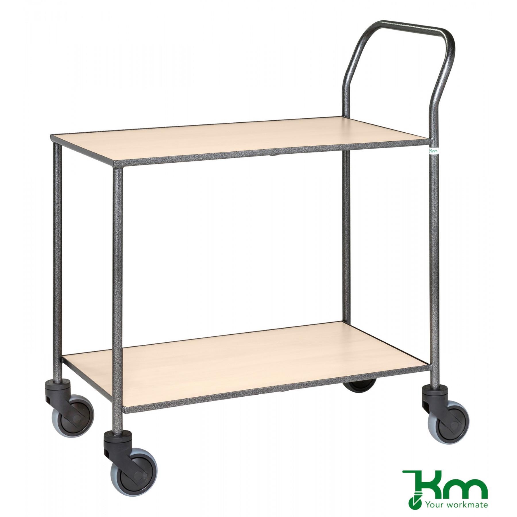 Design tafelwagen met berkenstructuur toplaag, KM 972-BJ