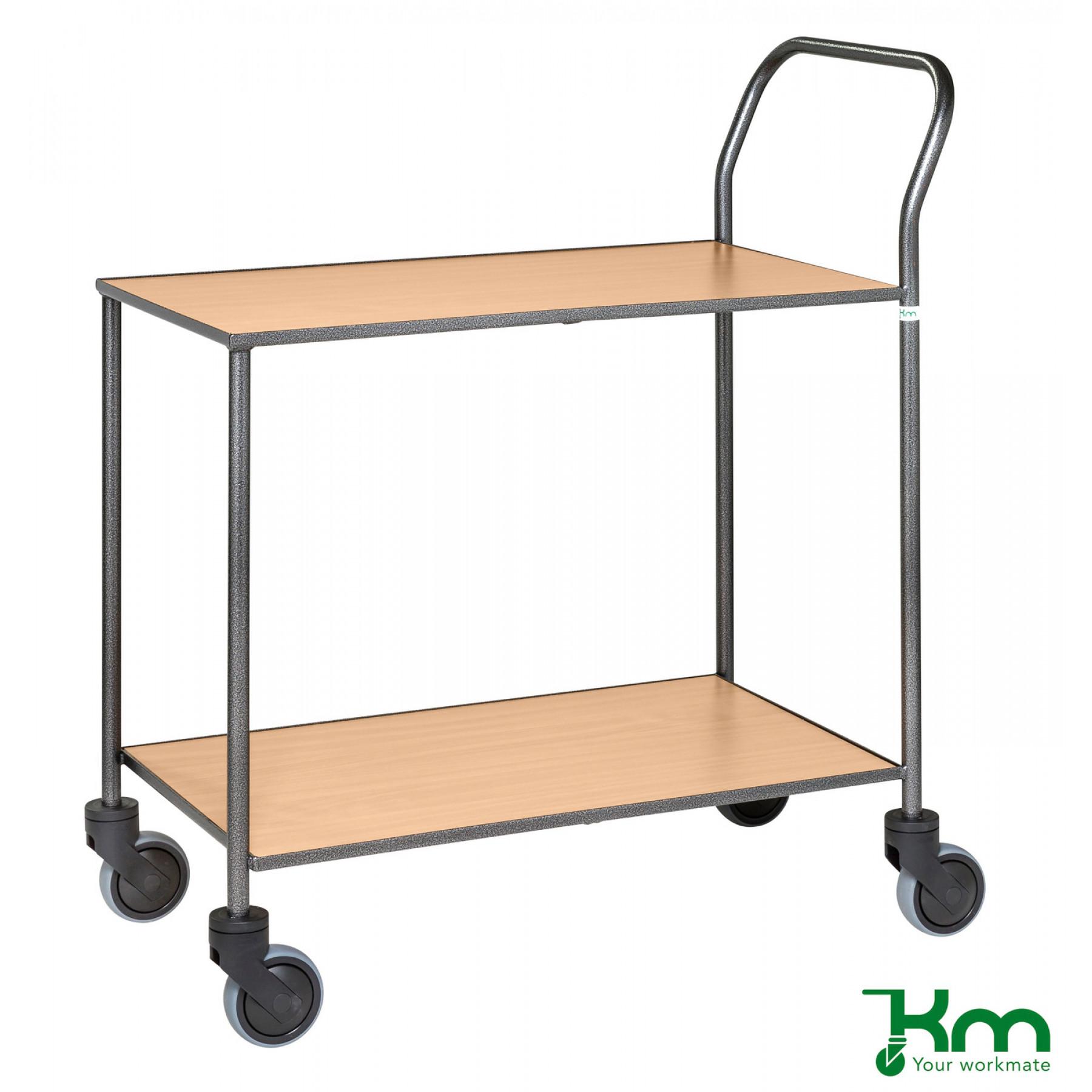 Design tafelwagen met beukenstructuur toplaag, KM 972-BO