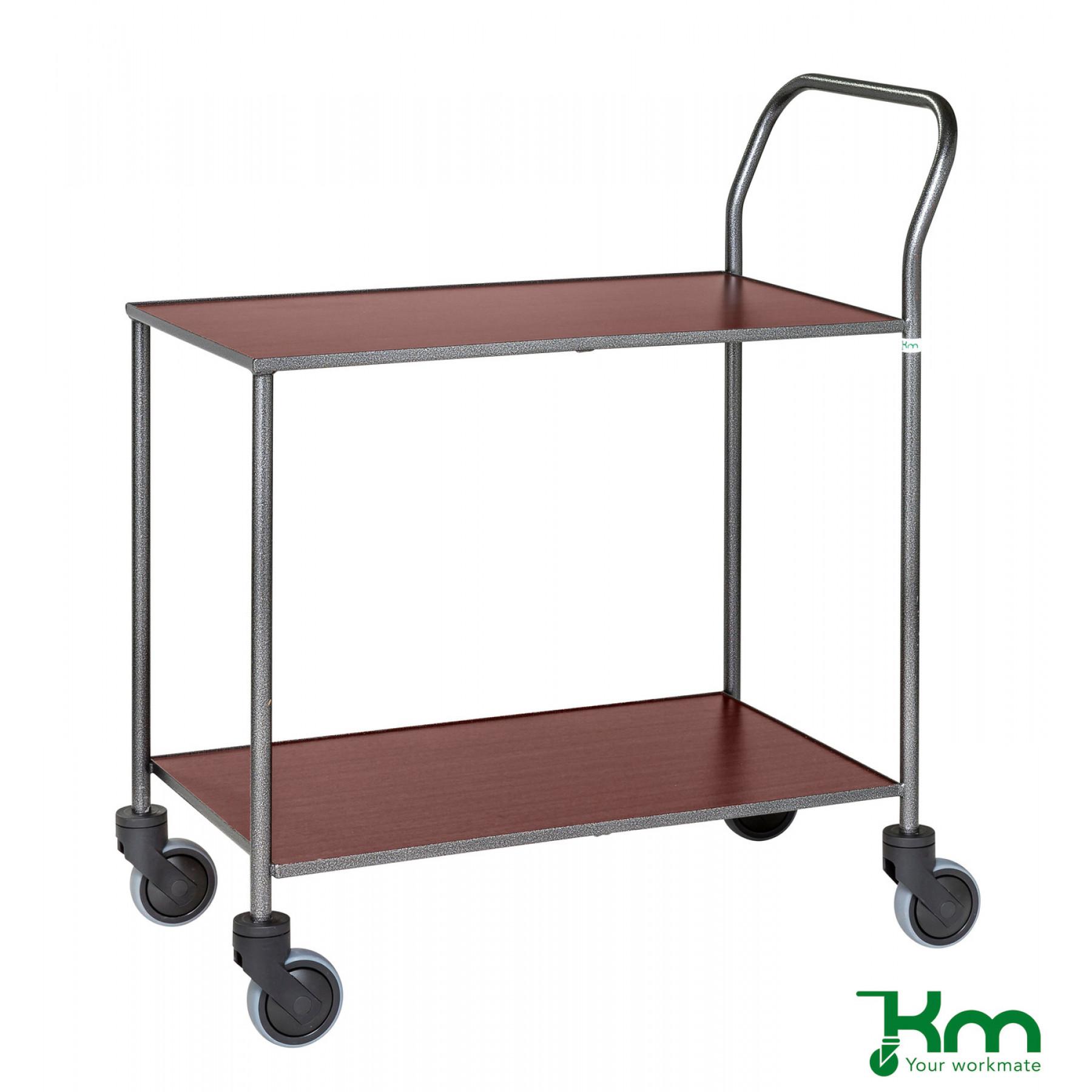 Design tafelwagen met mahoniestructuur toplaag, KM 972-MA