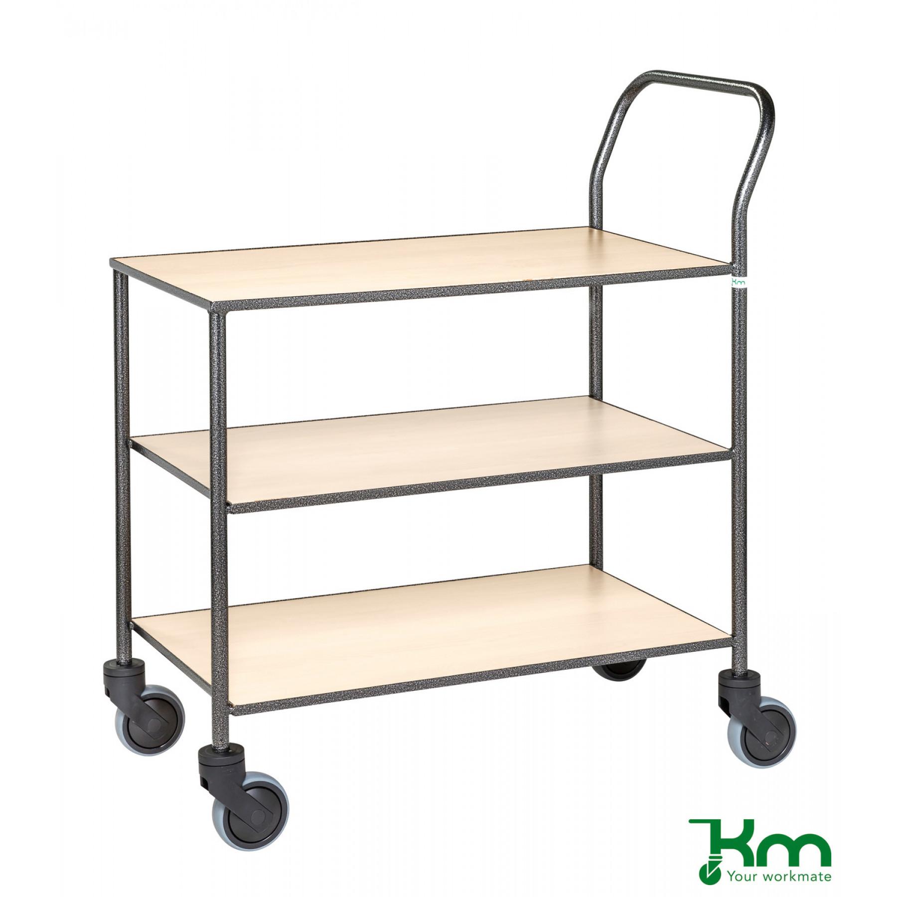 Design tafelwagen met berkenstructuur toplaag, KM 973-BJ