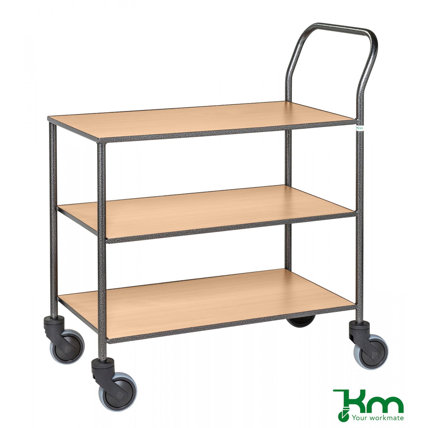 Design tafelwagen met beukenstructuur toplaag, KM 973-BO