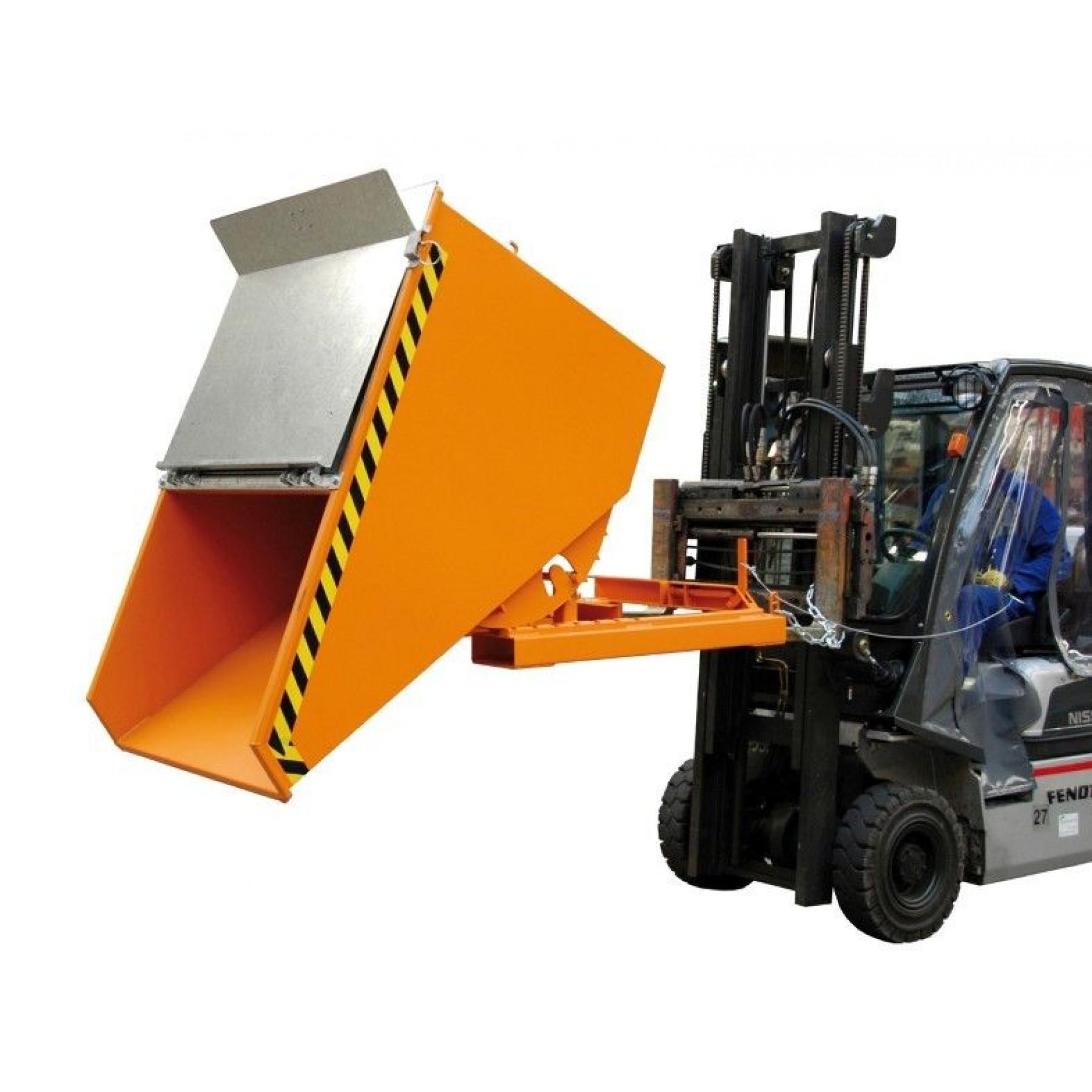 Verzinkt deksel t.b.v. kiepcontainer 1200 liter, MTF-1200-DEKSEL