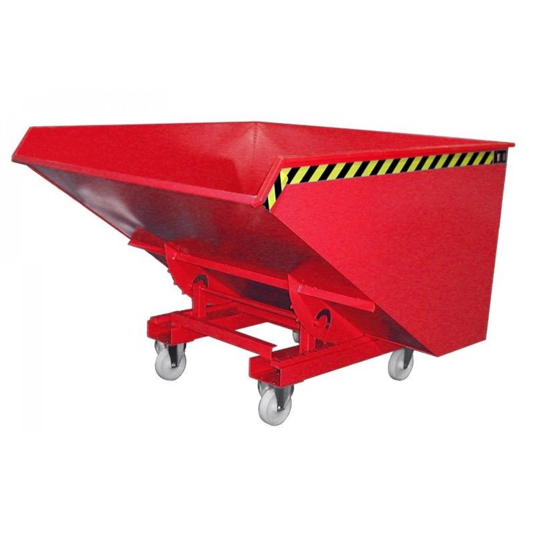 Wielenset met kunststof wielen voor kiepcontainers, MTF-WIELENSET