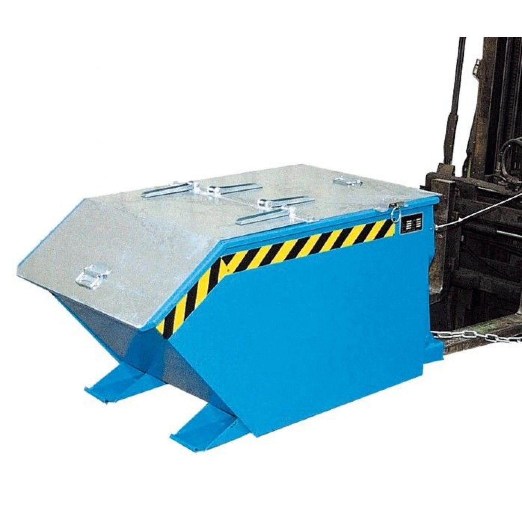 Verzinkt deksel t.b.v. laagbouw kiepcontainer 750 liter, MTFL-750-DEKSEL