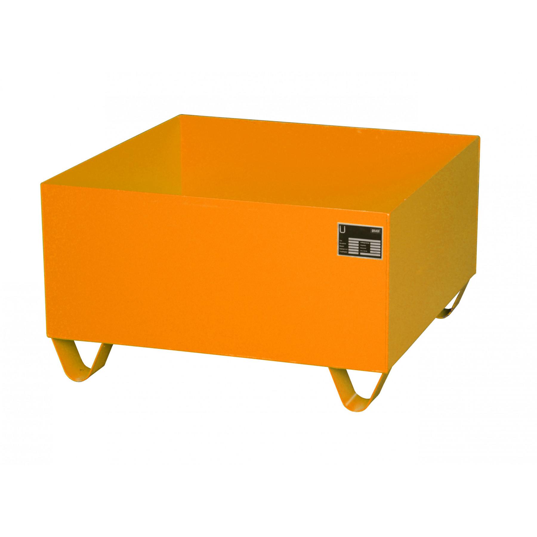 Vloeistofopvangbak voor 1 x 200 liter vat, 70049-2000-2000