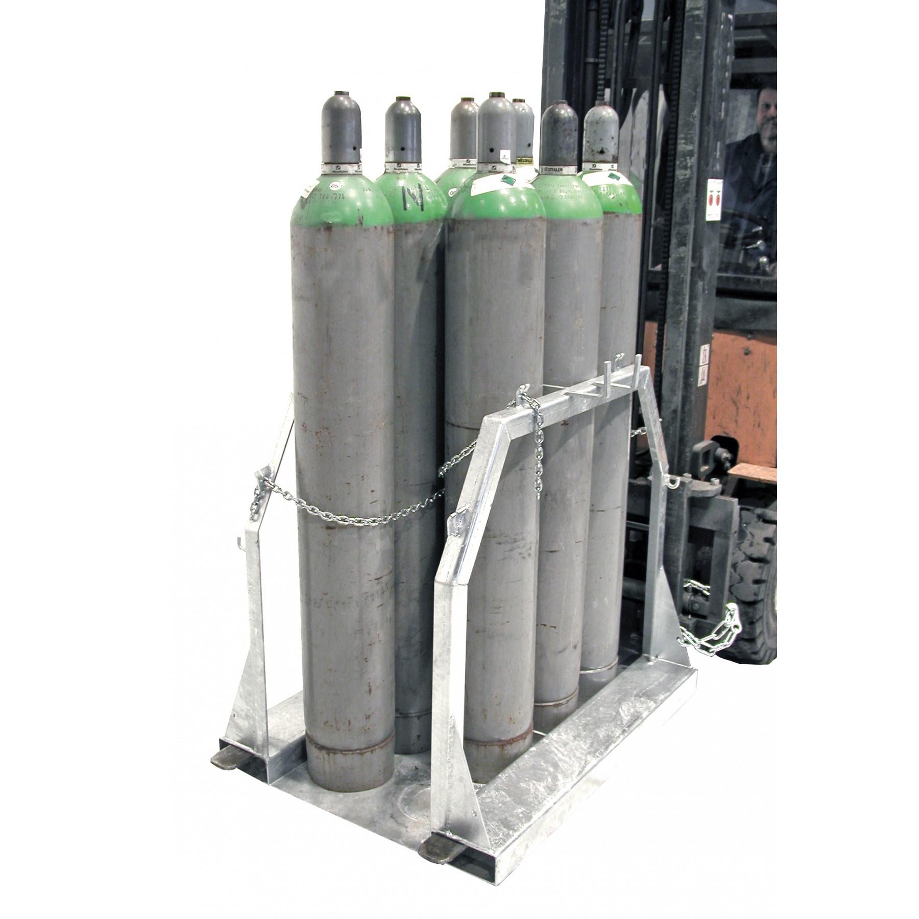 Gasflessenpallet voor 1-8 gasflessen, 70049-SFP8