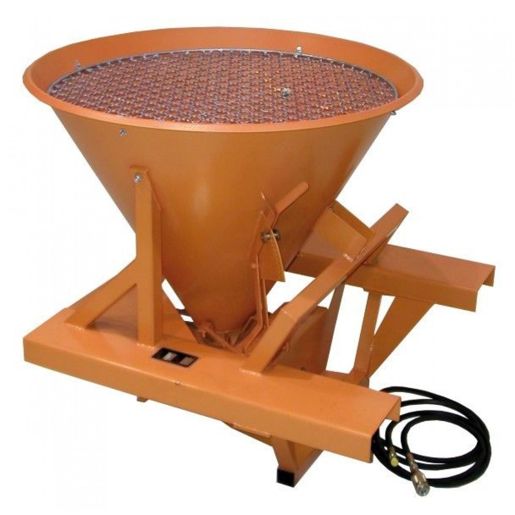Strooiapparaat met trechterinhoud 265 liter