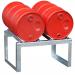 Vatenrek t.b.v. 2 x 60 liter vaten, verzinkt, 70049-FA60-2
