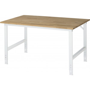 Werktafel met massief beuken werkblad, serie Tom 1000 mm