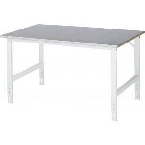 Werktafel met werkblad met staalplaat toplaag, serie Tom 1000 mm