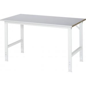 Werktafel met werkblad met staalplaat toplaag, serie Tom 800 mm
