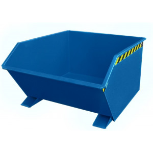 Kiepcontainer laag model, gelakt of verzinkt, type MTFL 1000 liter