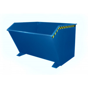 Kiepcontainer laag model, gelakt of verzinkt, type MTFL 2000 liter
