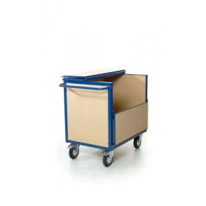 Houtboxwagen met deksel