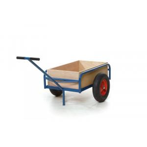 Handwagen op 2 wielen met uitneembare houten bak