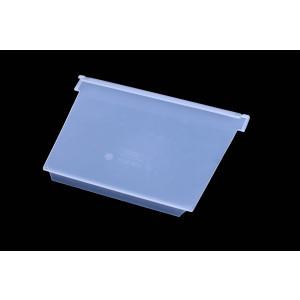 Schuin tussenschot voor stellingbak, afmeting: 230x150mm, transparant