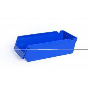 Nestbare- en stapelbare stellingbak 500x230x150mm, kleur blauw