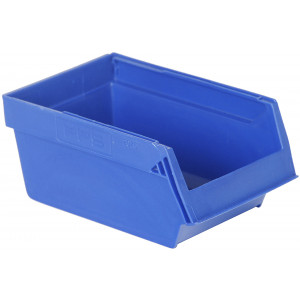 Nestbare magazijnbak 170x105x75mm, kleur blauw