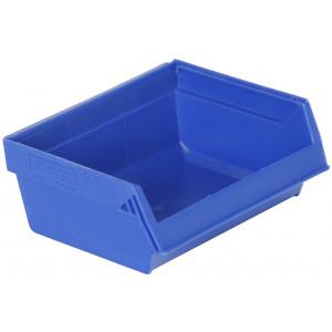 Nestbare magazijnbak 96x105x45mm, kleur blauw