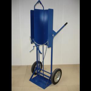 Flessenwagen met hijsoog voor 2 x 40/50 liter flessen, 210.001-M-HIJS