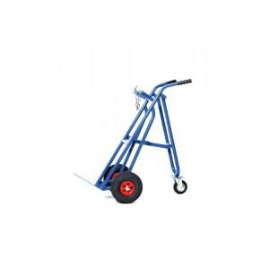 Gasflessenwagen met steunwiel voor 1 x 40/50 liter fles