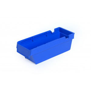 Nestbare onderdeelbak 300x115x100mm, kleur blauw
