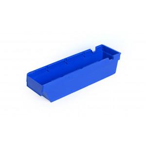Nestbare onderdeelbak 400x115x100mm, kleur blauw