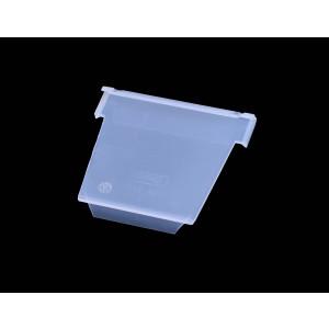 Schuin tussenschot voor onderdelenbak, afmeting: 115x100mm, transparant