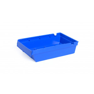 Nestbare onderdeelbak 400x230x100mm, kleur blauw