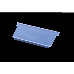 Schuin tussenschot voor onderdelenbak, afmeting: 230x100mm, transparant