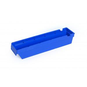 Nestbare onderdeelbak 500x115x100mm, kleur blauw