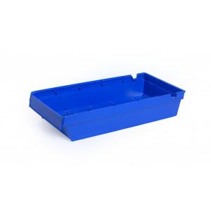 Nestbare onderdeelbak 500x230x100mm, kleur blauw