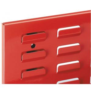 ®RasterPlan sleuvenpaneel, kleur verkeersrood RAL 3020