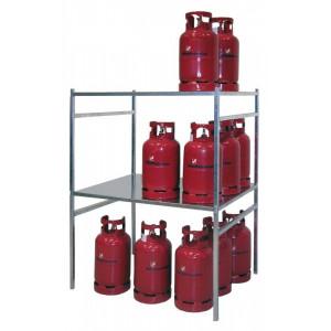 Gasflessenrek voor gasflessen tot 11 kg, 70049-GFG