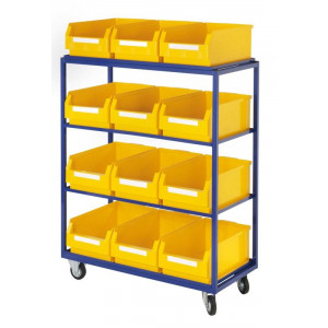 Orderpickwagen of bijzetwagen met rechte legborden
