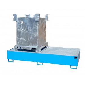 Opvangbak geschikt voor de opslag van 2x 1000 liter IBC