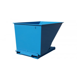 Kantelbak met automatisch kiepsysteem 2000 liter RAL5019