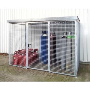 Gasflessencontainer voor buitenopslag van gasflessen, enkele deur