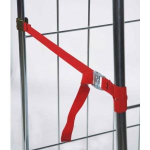 Veiligheidspanband in rood 900 mm voor rolcontainers, KM R1
