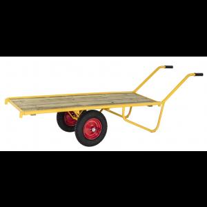 Ramenwagen met houten laadvloer, 2-wielig