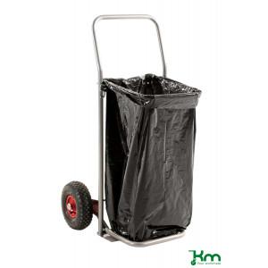 Afvalzakwagen op luchtbandwielen
