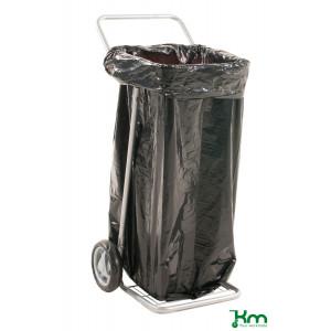 Afvalzakwagen op massieve rubberband